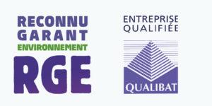 logo RGE, entreprise qualifiée Qualibat
